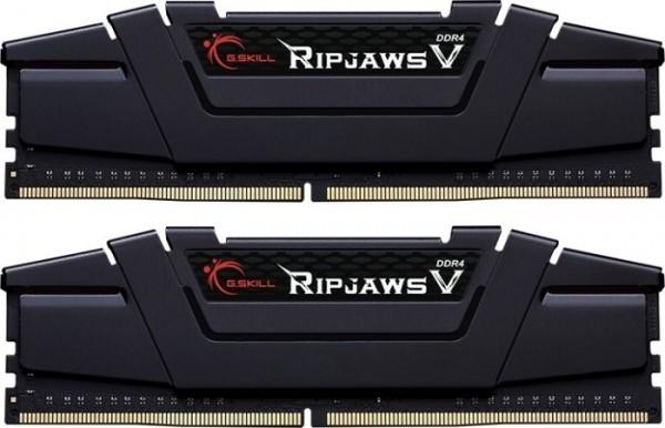 Vorschau: G.Skill RipJaws V schwarz DIMM Kit 32GB, DDR4-3600, CL16-19-19-39
