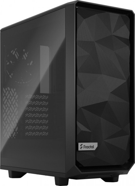 Vorschau: Fractal Design Meshify 2 Compact Light Tempered Glass Black
